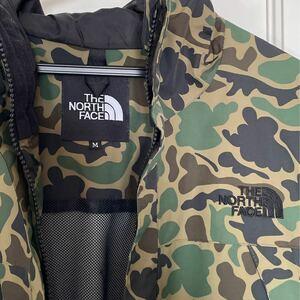 THE NORTH FACE JACKET ザノースフェイス マウンテンジャケット迷彩柄グリーン 美品