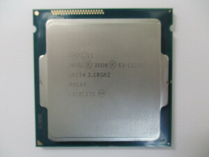 Intel XEON E3-1241 V3 3.50GHz LGA1150 中古動作確認済み