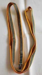 未使用品 ロックエンパイアー ROCK EMPIRE オープンスリング120 RE52XX120 幅20mm 長さ120cm ゴールド ナイロン 強度22KN 登山 救助