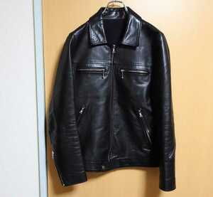 uniform experiment シングルライダースジャケット サイズ2 ブラック 牛革 日本製 lewis leathers ルイスレザー ドミネーター 藤原ヒロシ