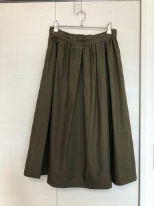 スカート カーキ ロングスカート