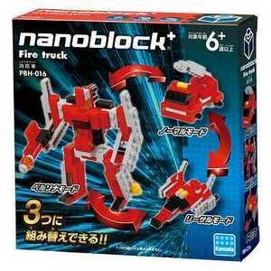 ナノブロックプラス PBH-016 消防車 nanoblock+ nanoブロック おもちゃ 知育玩具
