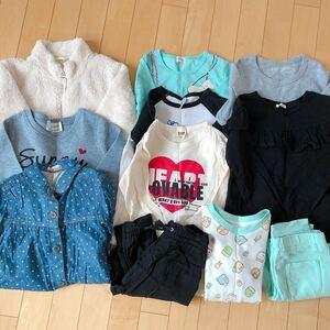 女の子秋冬服 120cm 1 1点セット まとめ売り トップス ズボン ワンピース パジャマ トレーナー 長袖Tシャツ 上着 美品あり