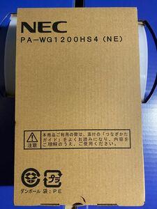 新品未開封 Aterm WG1200HS4 PA-WG1200HS4 無線LANルーター(Wi-Fiルーター) NEC(日本電気)