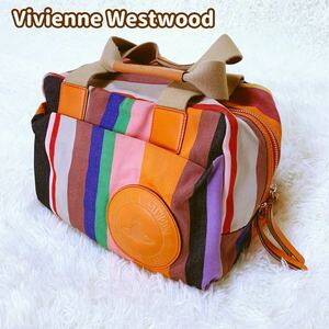 Vivienne Westwood ミニボストンバッグ マルチカラー オーブ ハンドバッグ