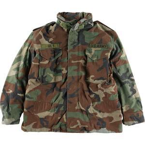 米軍実品 ウッドランドカモ 迷彩 M-65 ミリタリー フィールドジャケット USA製 メンズM /eaa195630
