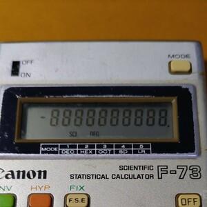 関数電卓キャノンF-73 中古
