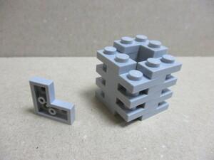 レゴ パーツ コーナープレート ライトグレー16個 新品