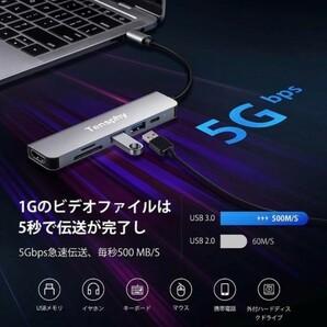送料無料 USB Type C ハブ 6in1 PD充電(87w) 4K対応 HDMI apple 対応