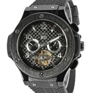 【国内即日発送】限定モデル トゥールビヨン メンズ自動巻き腕時計 45mm 機械式 カレンダー付き防水ウォッチ