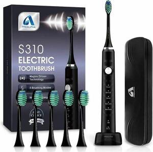 電動歯ブラシ 新品 未使用 音波歯ブラシ ソニック USB充電式 IPX7防水 歯ブラシ 小型 軽量 エチケット