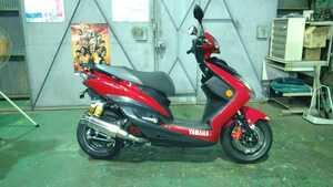 ◆ヤマハ シグナスX-SR3型 SE44J 赤 走行少ない5653km 3型に拘る方必見!◆