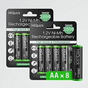好評 新品 単三充電池 HiQuick 3-3B 自然放電抑制 環境保護 単三電池 充電式ニッケル水素電池 単3電池 大容量2800mAh