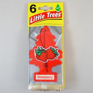 お得な6枚組 リトルツリー ストロベリー Little Trees 芳香剤 エアフレッシュナー 車 部屋 吊り下げ USA【メール便 送料無料】
