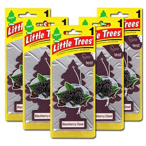 リトルツリー ブラックベリー クローブ 5枚セット Little Trees 芳香剤 車 部屋 吊り下げ USA エアフレッシュナー 【メール便 送料無料】
