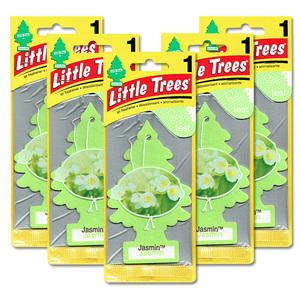 リトルツリー ジャスミン 5枚セット Little Trees 芳香剤 車 部屋 吊り下げ USA エアフレッシュナー【メール便 送料無料】