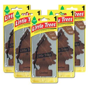 リトルツリー レザー 5枚セット Little Trees 芳香剤 車 部屋 吊り下げ USA エアフレッシュナー 革【メール便 送料無料】