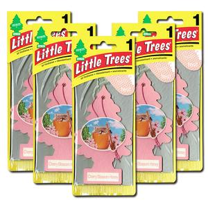 リトルツリー チェリーブロッサム ハニー 5枚セット Little Trees 芳香剤 車 部屋 吊り下げ USA エアフレッシュナー【メール便 送料無料】