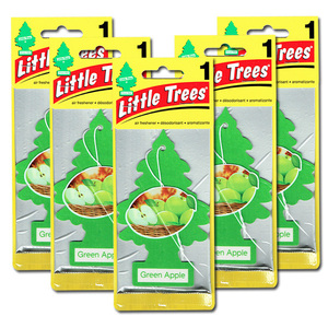 リトルツリー グリーン アップル 5枚セット Little Trees 芳香剤 車 部屋 吊り下げ USA エアフレッシュナー【メール便 送料無料】