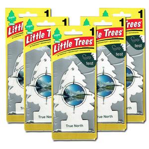 リトルツリー トゥルー ノース 5枚セット Little Trees 芳香剤 車 部屋 吊り下げ USA エアフレッシュナー【メール便 送料無料】