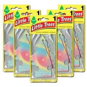 リトルツリー コットン キャンディ 5枚セット Little Trees 芳香剤 車 部屋 吊り下げ USA エアフレッシュナー【メール便 送料無料】