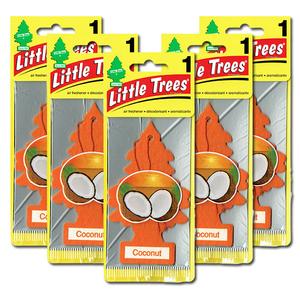リトルツリー ココナッツ 5枚セット Little Trees 芳香剤 車 部屋 吊り下げ USA エアフレッシュナー【メール便 送料無料】