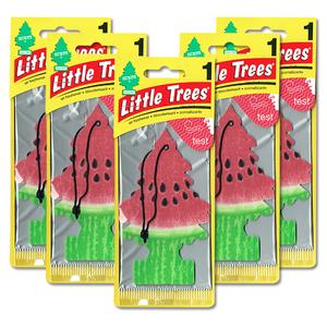 リトルツリー ウォーターメロン 5枚セット Little Trees 芳香剤 車 部屋 吊り下げ USA エアフレッシュナー スイカ【メール便 送料無料】