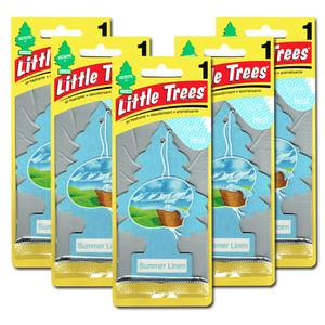 リトルツリー サマー リネン 5枚セット Little Trees 芳香剤 車 部屋 吊り下げ USA エアフレッシュナー【メール便 送料無料】