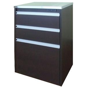 送料無料/製造直販/タクミ ステンレス天板 キッチンカウンター60/レンジ台/ダークブラウン/日本製/完成品