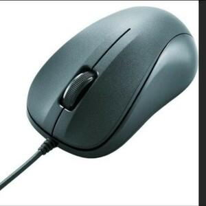 (中古)エレコム 有線マウス USB 3ボタン 光学式 《ブラック》 M-K5URBK/RS _