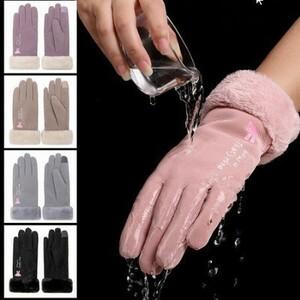 全品値下げ!!新到着冬 手袋の女性タッチスクリーン防水屋外厚く暖かい手袋 女性弾性ミトン k-1029