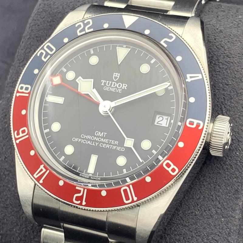 ◎1円~ チュードル TUDOR ヘリテージ ブラックベイ GMT ペプシ 79830RB 自動巻き ギャランティ 腕時計 CP334710614