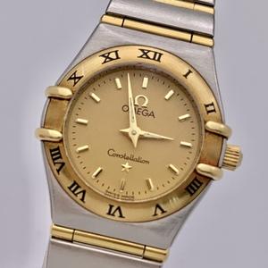 ◎1円~ オメガ omega コンステレーション SS×YG 保証書 ゴールド文字盤 1262.10 レディース クオーツ コンビ 腕時計 CP48610631
