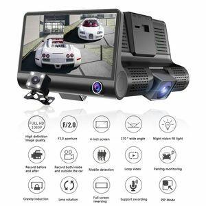 S12 ドライブレコーダー 前後カメラ 最新版 車載カメラ 4.0インチ 1080P 170°広視野角 WDR搭載 駐車監視 常時録画