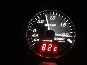 Pivot DPB-E EURO CAR dual gauge boost meter - water temperature gage voltmeter 60 pie operation has been confirmed BMW white / orange switch pivot