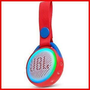 新品大特価!! レッド IPX7防水/ポータブル/ライトリング搭載 Bluetoothスピーカー J POP J2M0B