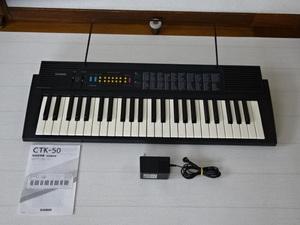 ■CASIOカシオ 電子キーボード CTK-50 49鍵盤 中古■