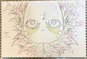鬼滅の刃 原画ポストカード 5枚セット 煉獄杏寿郎 無限列車 第二期前半
