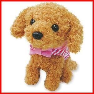 【送料無料-激安】 よびかけアクション愛犬モカちゃん 犬のぬいぐるみ 動くぬいぐるみ 動くおもちゃ F1152 6C181 かわいい 鳴く 犬