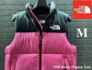 ◆モデル出品◆新品 M ザ・ノースフェイス ヌプシダウンベスト グースダウン700 The North Face M 1996 RETRO NUPTSE VEST PINKカラー