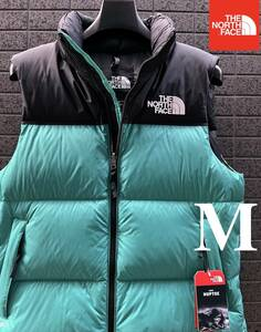 ◆モデル出品◆新品 M ザ・ノースフェイス ヌプシダウンベスト グースダウン700 The North Face M 1996 RETRO NUPTSE VEST GREENカラー
