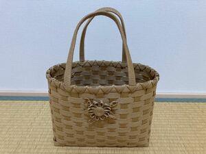 ハンドメイド 籠バッグ クラフト レディースバッグ 手提げバッグ 雑貨