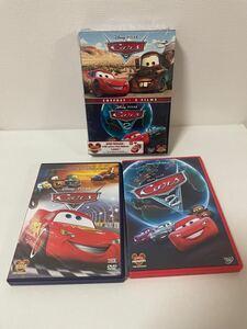 美品【フランス語版 DVD 】Disney PIXAR Cars 1. 2( カーズ )DVD 2枚組ボックス