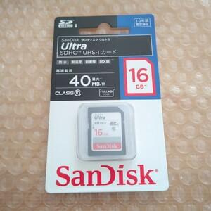 サンディスク Ultra 16GB SDHCカード