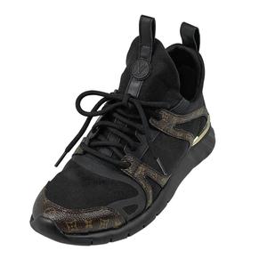 ルイ・ヴィトン Louis Vuitton アフターゲーム スニーカー モノグラム 軽量 靴 スニーカー レザー ブラック ブラウン レディース 【中古】