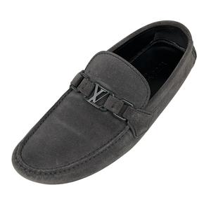ルイ・ヴィトン Louis Vuitton ホッケンハイム ドライビングシューズ ローファー 靴 ドライビングシューズ スエード グレー メンズ 中古