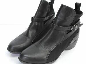 fitfit フィットフィット レザー ショート ブーツ size25/黒 ◇■ ☆ bib6