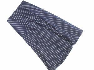 新品 SPIRALGIRL スパイラルガール ストライプ フレア スカート sizeF/紺 ■■ ☆ bia1