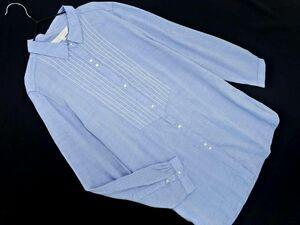ネコポスOK 組曲 刺繍 シャツ size3/水色 ◇■ ☆ bic2