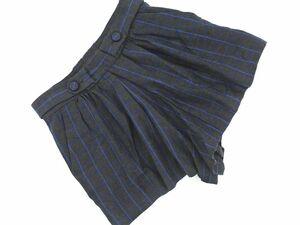 ネコポスOK SACRA サクラ ウール混 ウィンドペン ショート パンツ size36/グレー ◇■ ☆ bic7